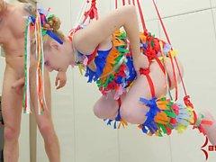 Anal Pinata Girl -- hot blonde punished