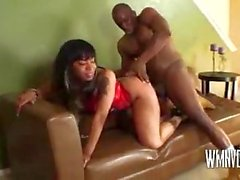 Ebony having a good time