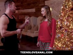 TeensLoveAnal - Hot Teen Robbed And Fucked During Christmas