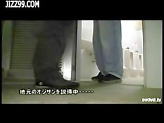surprise blowjob to old man in lavatory