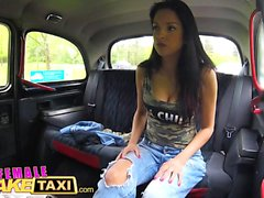 Female Fake Taxi Actress licks and fingers busty blonde
