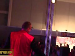 Public magic sex trick on stage