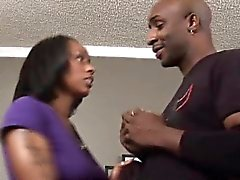 Big black dick in juicy ebony pussy