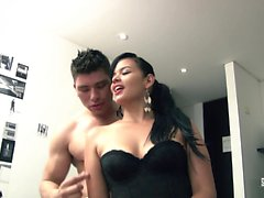 SANTA LATINA - Oiled up fuck with sultry Colombian babe