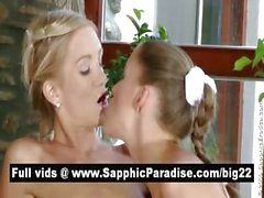 Naughty blonde lesbos kissing and fingering asshole and pussy and having lesbo sex