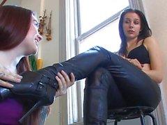 Mistress Genetica's boot slave