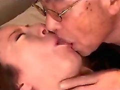 Milf Getting Her Hairy Pussy Licked Fingered By Old Man Giving Blowjob On The Bed In The Bedroom