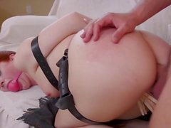 New Step-Mother Served Double Anal Trouble