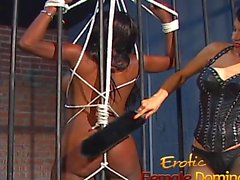 Jailed ebony girl punished by mistress Natash
