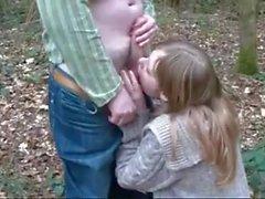 Pendeja lurar madurito en el bosque