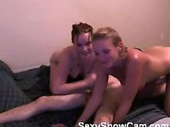 threesome with two wifes on webcam by amateurs