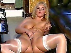 British slut Carol plays with herself in various scenes