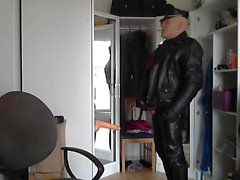 Leather Motorcycle plastic fuck
