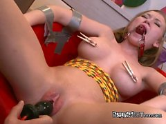Bound And Gagged Chick Madison Scott Gets Serviced