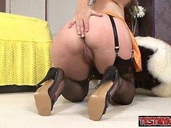 Sexy daughter bondage orgasm