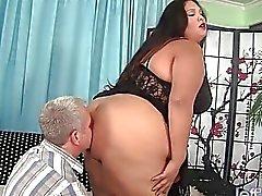Latina gorda BBW Lorelai Givemore Sexo de la carga ancha