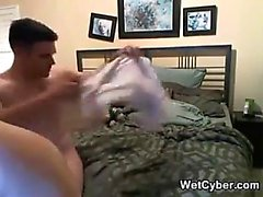 Blonde blowjob adoring skank facialized after hardcore fun