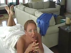 Janet Mason Takes A Load On Her Wrinkled Soles