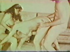 Vintage French Maid Threesome