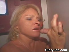 Blonde Amateur Sucking Dick At Glory Hole