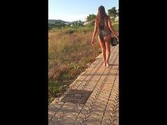 Wedgie Bikini teen PAWG candid