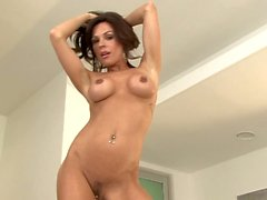 Gorgeous MILF Kirsten Price with big tits and pierced clit