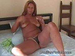 Big Cumshot - Hot Tan Busty Milf