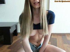 Horny Busty Teen Masturbating Her Pussy