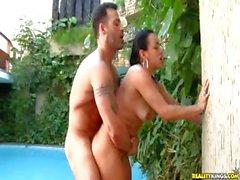 Brazilian babe Mayarra rides some cock