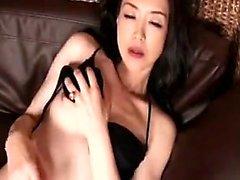 Slender mom has a horny boy sucking her nipples and fingeri