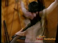 Foxy redhead wench enjoys whipping her extremely horny boy