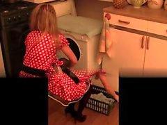 Fica pelosa cucina sbatte e bottiglia estremi inserimento
