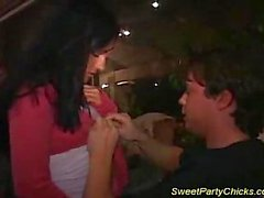 Party chick banged & face cummed