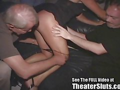 Hot Milf Gangbanged In a Tampa Porn Theater