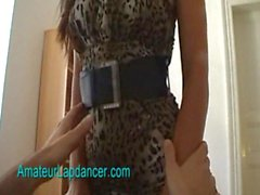 Exotic lady lapdances for horny guy