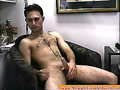 Amateur straight dude wanking off