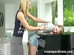 Lustful busty mom teaches teen couple what fucking is all about