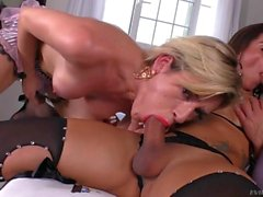 Shemale Babes Fuck In Threeway Style
