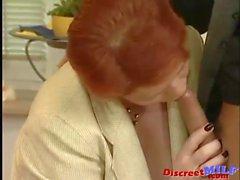 German Old MILF Gets Warm Facial Load