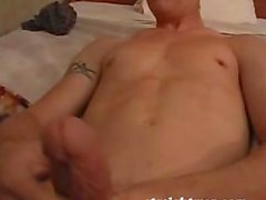 Hancock and Aden Graham Play With His Huge Fat Cock