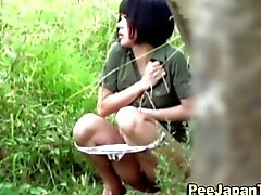 Asian women piss in public