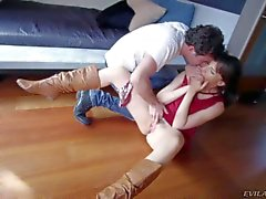 Dana Dearmond gets her butthole stretched with man s hand