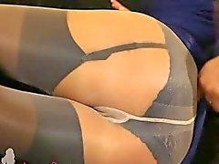 inanılmaz naylon külotlu çorap Fairhair