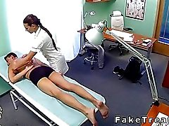 Nurse massage- och luggen patienter