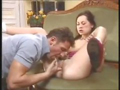 Euro dad and daughter fuck hard