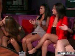 Horny bitches go crazy jerking