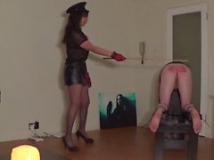 A hard caning from Miss Sultrybelle. (90 strokes)