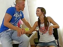 Lady gets teased and gives a fascinating jock ride