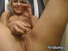 Toying Around With Her Pussy Up Close