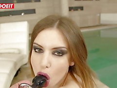 Hardcore Anal Sex with two Black Guys ( Stella Cox )